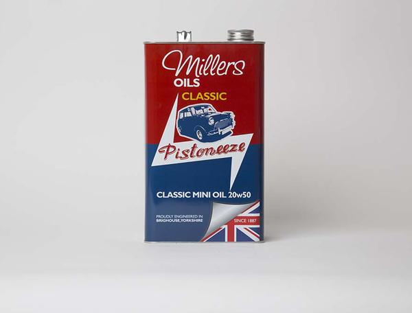 Millers oils pistoneeze classic mini oil 20w50 5l for Classic house nl